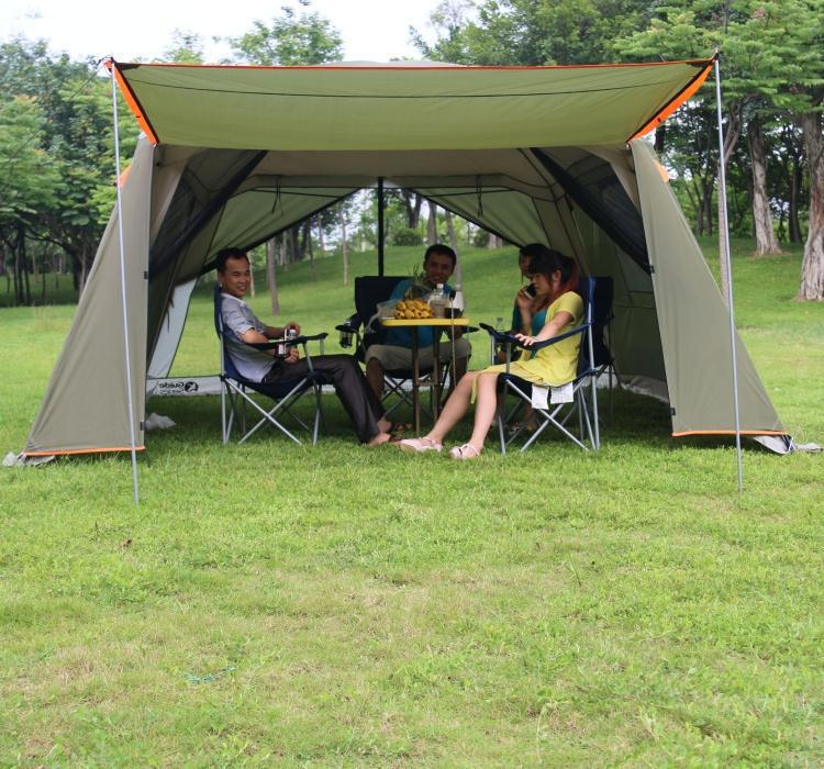 Rainproof double layer outdoor sun-shading 4Corners garden arbor/Multiplayer party camping tent/Awning shelter anti-mosquito(China (Mainland))