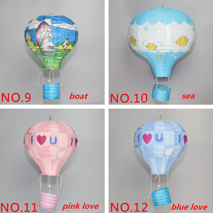 Free shipping 25cm 10 inch Paper lanterns Chinese wishing lantern hot air balloon style birthday party paper decorations kids(China (Mainland))