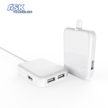 US EU Plug 15W 3.1A USB Charger Dock Wall 4 Ports Mobile Phone Adapter For iPhone 5 6 iPad Samsung Xperia Charging  Wholesale