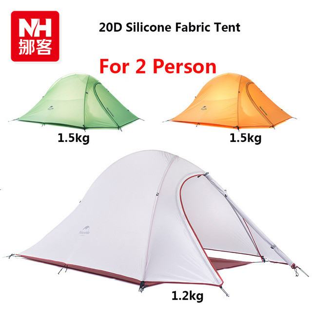 2016-DHL-free-shipping-NatureHike-2-Person-Tent-ultralight-210T-Plaid-Fabric-Tents-Double-layer-Camping
