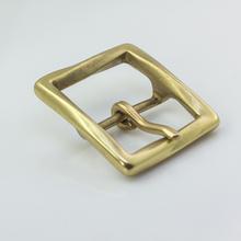 """1-1/2"""" Solid Brass Belt Buckle Vintage Mens Belt Buckle Leathercraft #40-14"""