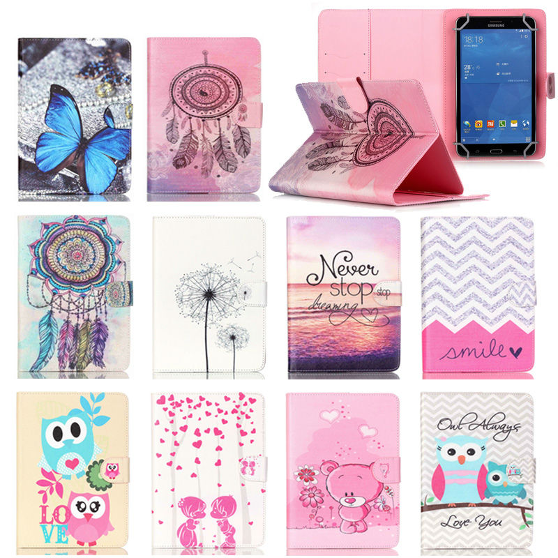 - HTB1F2kXLXXXXXadXFXXq6xXFXXXs - [print] Fashion PU Leather Stand Case Cover For Digma Optima 7.3 Universal 7 inch Tablet cases w/Credit Cards Holder M4D69D