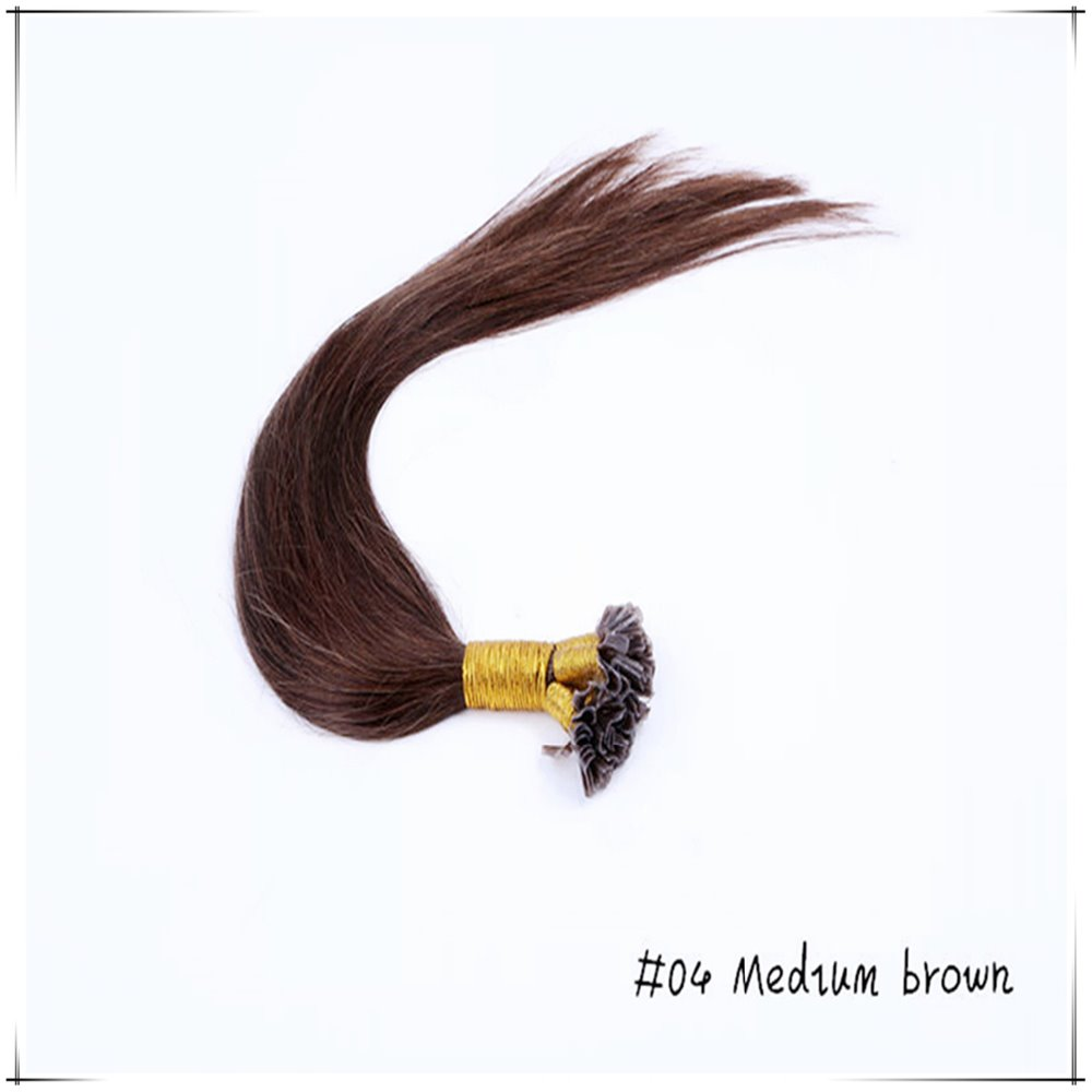 Wholesale 26inch/65cm Brazilian Remy Human Straight Pre Bonded Hair Weaves 100g/pc Tangle Freeext Ensiones Del pelo Humano