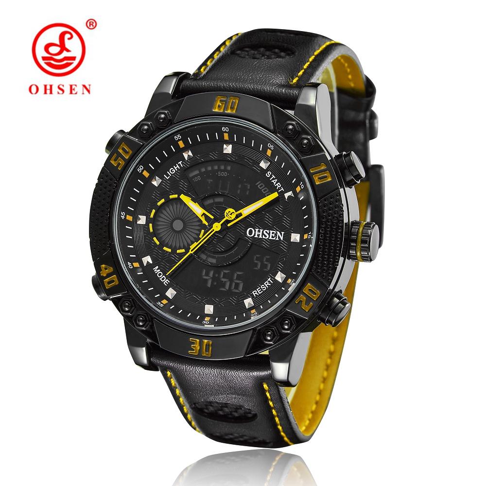 2016 OHSEN Quartz-watch Brand Men Relogio Digital-watch Relogios Masculinos De Luxo Original Car Watch China Men Luxury Brand(China (Mainland))