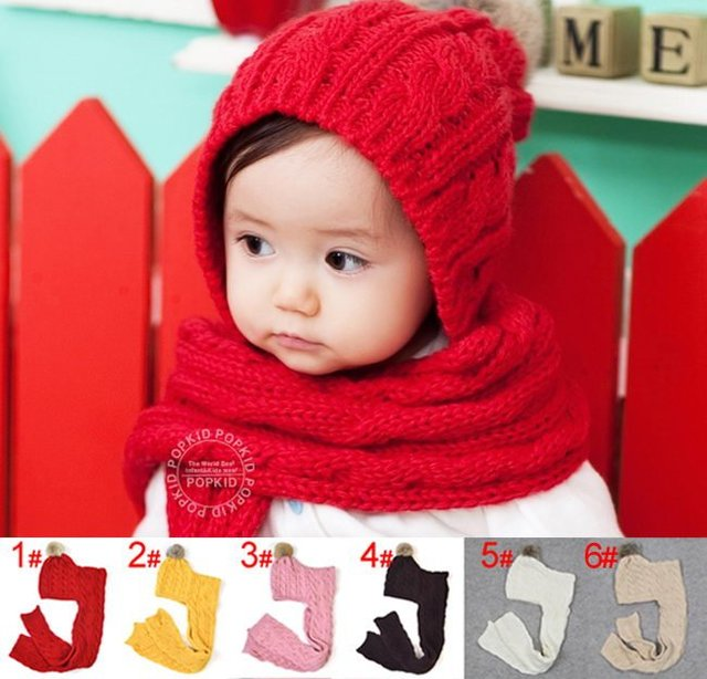 Free shipping 10 pcs/lot wholesale Baby cap,Baby knitted hat & scarf sets,Children's warm hat,Kids crochet hats+scarves/beanie
