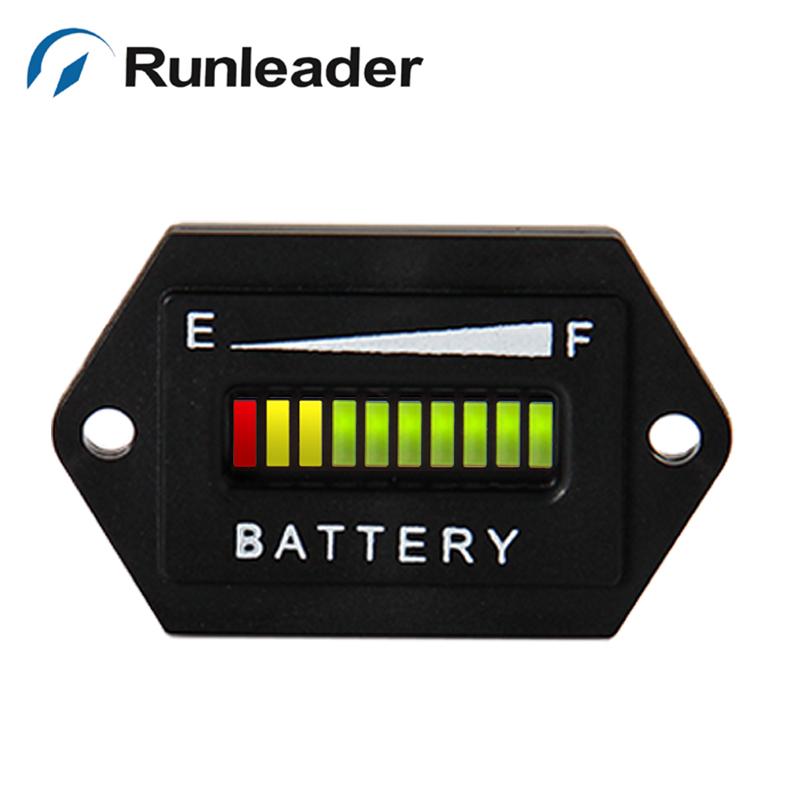 50PCS/LOT 48V Battery Indicator charge DISCHARGE meter for golf carts electric vehicle scooter car FORKLIFT RL-BI001<br><br>Aliexpress