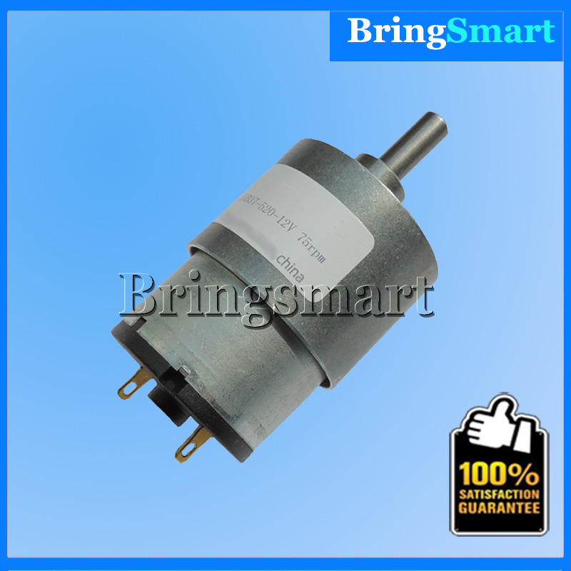Wholesale 520 6v 12v 24v Gear Motor 7-1280 r/min Dc Motor 6V Reverse Motor D Shaft Engine For Common Use Bringsmart(China (Mainland))