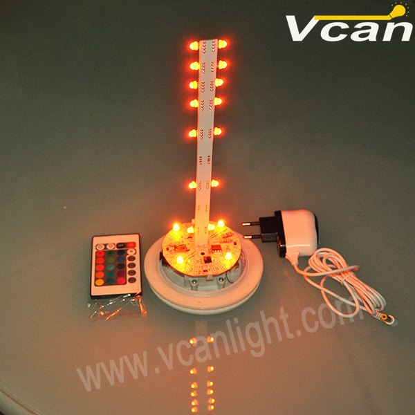 FAST Free Shipping battery operated wireless remote control led pot light(China (Mainland))