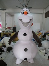 High Quality Party Smiling Olaf Mascot Costume Snowman Fancy Dress Adult EPE Material()