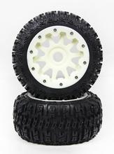 Buy Rovan Baja 5B three generation nylon wheel tire assembly wasteland 95195 red orange for $47.86 in AliExpress store