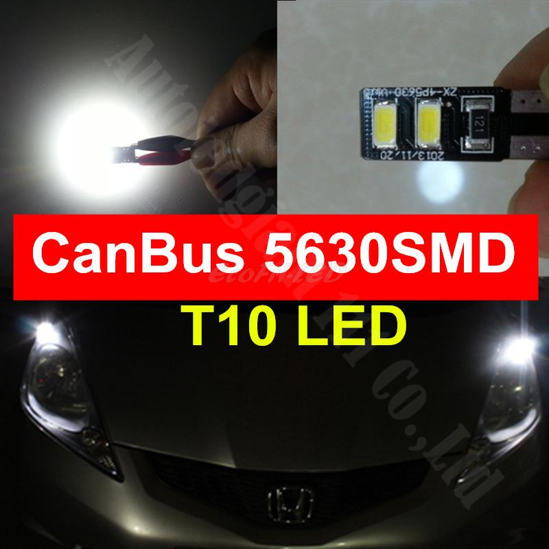 New! Super White T10 NO Error Car LED W5W 360 Degree Light Sourcing 4Smd 5630SMD CANBUS Dome LED License Plate Parking Light 12V(China (Mainland))