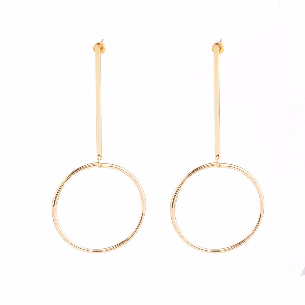 2016 Fashion Exaggerated Aros Hoop Earrings for Women Big Circle Hoop Round Pendant Earrings Brincos Jewelry Christmas XR149