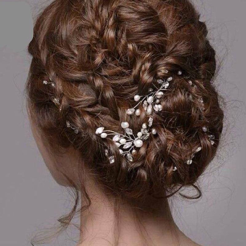12 PCS Crystal Flower Bridal Hair Pins Handmade Pearl Hairpins Elegant Headpiece Wedding Bridesmaid Jewelry Hair Accessories(China (Mainland))