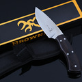 Ebony Wood Handle Fixed Blade Knife Full Tang Hunting Straight Knife Tactical Survival knives