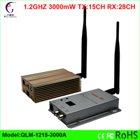 1.2GHz 3000mW long transmission range wireless video audio transmitter receiver Free Shipping