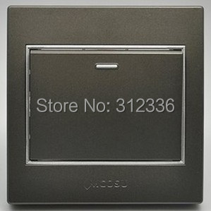 free shipping wall switch one on single control wall switch coffee color mcosu 10A(China (Mainland))