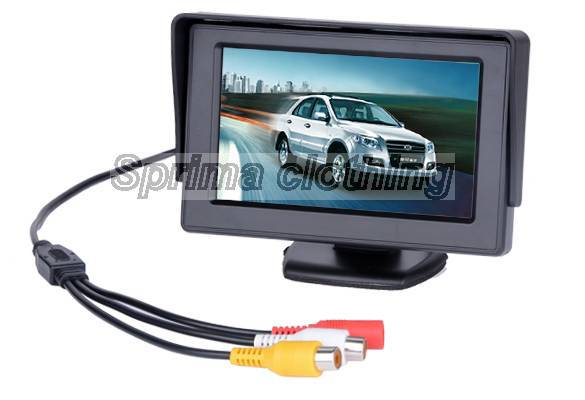 Hot SELLING 4.3 Inch TFT Car Monitor Mirror View Rearview Auto LCD Screen Backup Camera for Car Reversing Record 1397(China (Mainland))