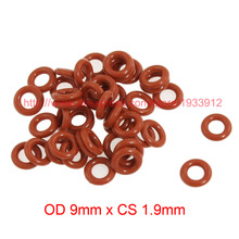 Buy OD 9mm x CS 1.9mm silicone seal washer o-ring o rings rubber gasket for $11.69 in AliExpress store
