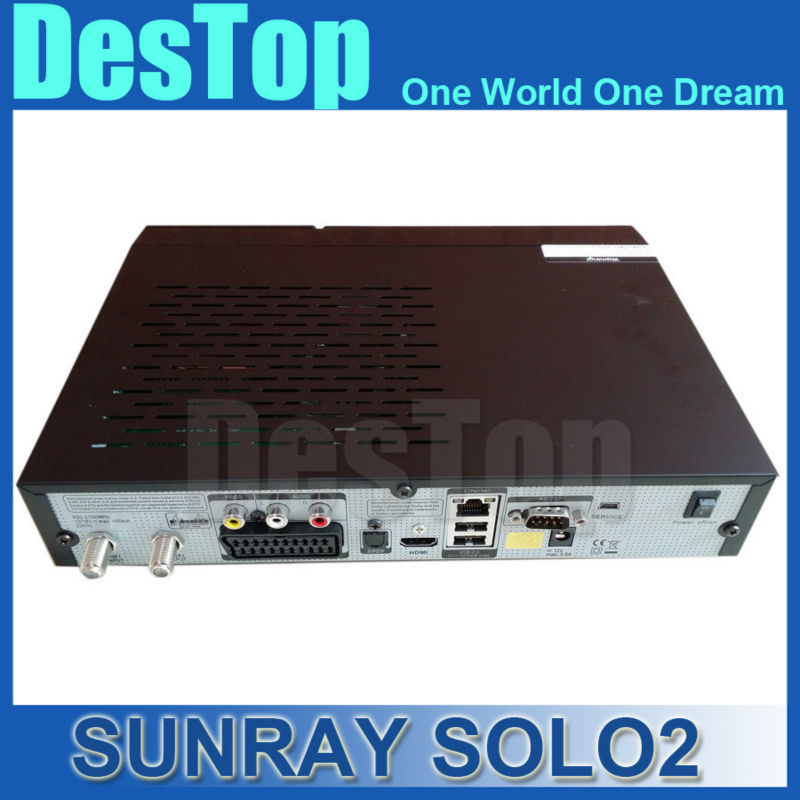 2pcs sunray Solo 2 sunray HD Satellite Receiver Linux OS Twin DVB-S2 Tuner with 1300 MHz CPU SOLO2 2pcs/lot DHL free shipping(China (Mainland))
