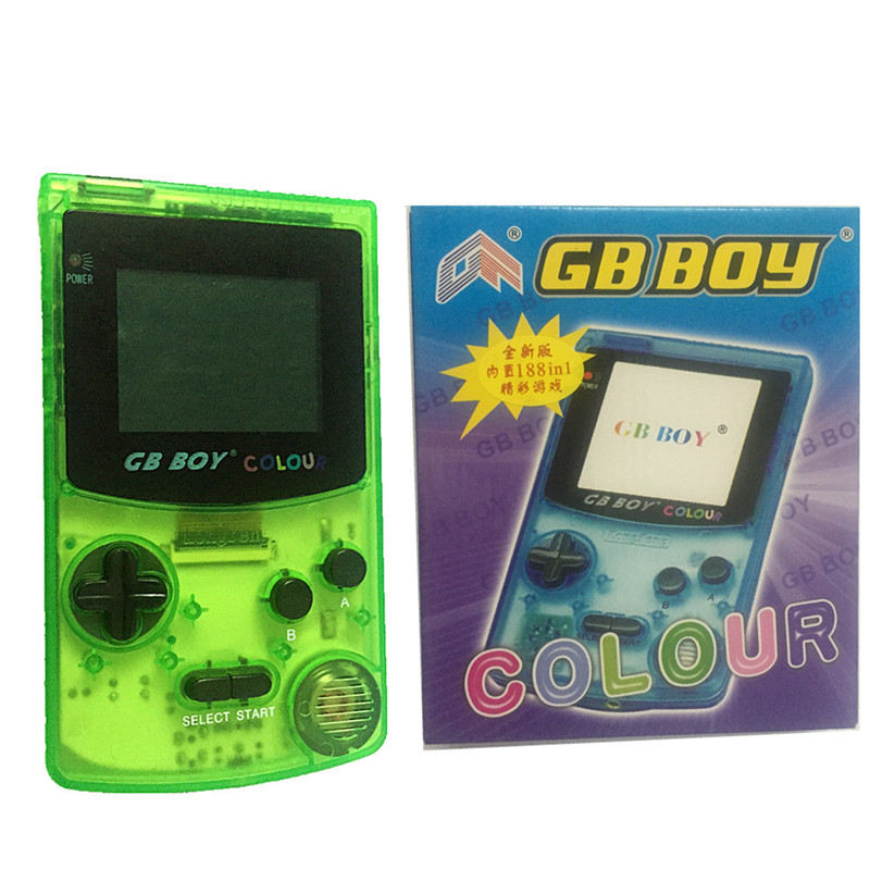 "3colors In stock 2.7""kong feng GB BOY Classic Color Colour Handheld Game Consoles with Backlut boy game player with Package(China (Mainland))"