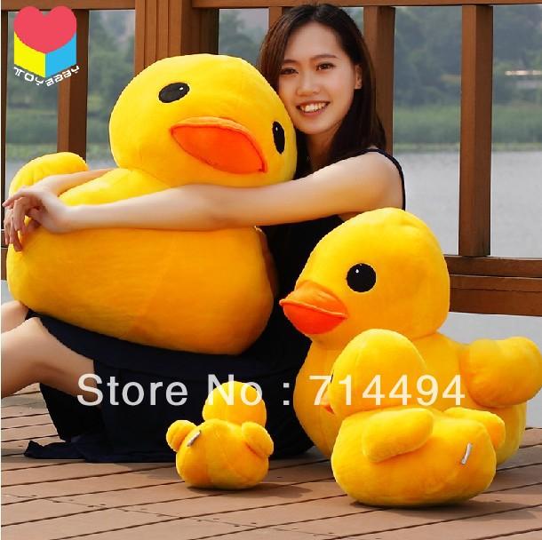 Genuine yellow 30cm duck, Hongkong big yellow duck doll plush toy doll female birthday gift children gift free shipping(China (Mainland))