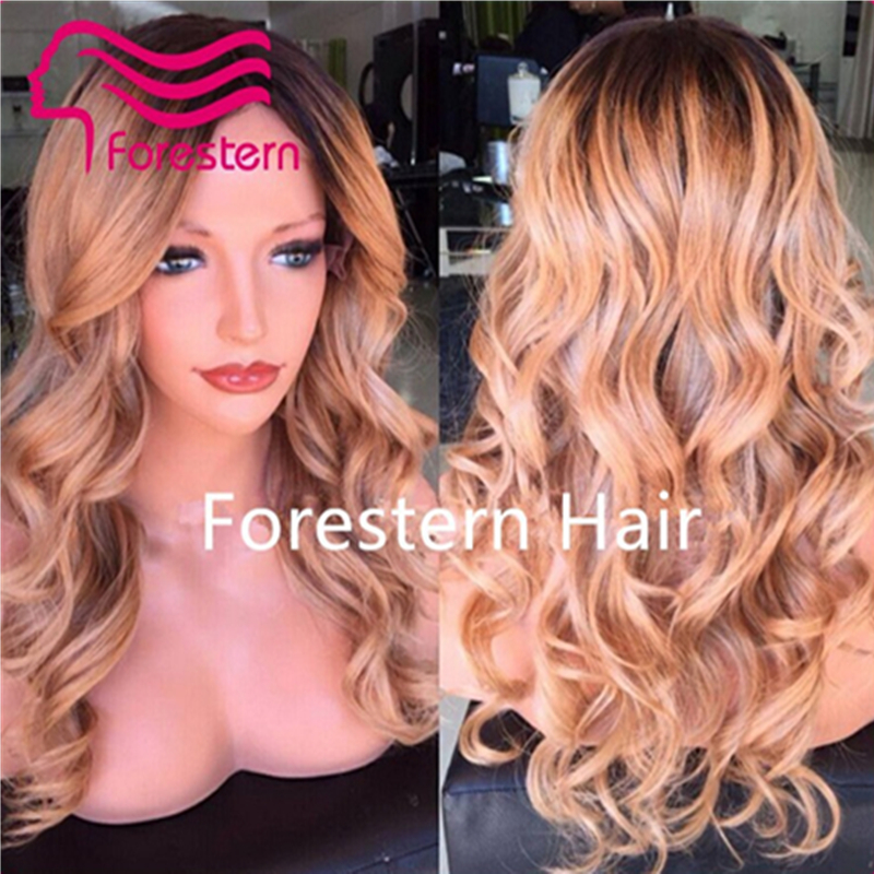 7A Glueless Full Lace Wigs Human Hair Ombre Lace Front Wig Brazilian Two Tone Human Hair Wigs Body Wave Ombre Lace Wig
