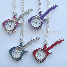 Rock Guitar Star Key Ring Pendant Pocket Quartz Watch+Gift&Free Shipping