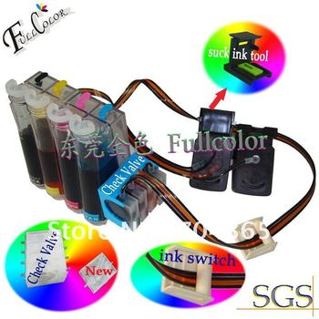 Free shipping CISS kits for hp 60black ,hp60 tricolor prinithead ink cartridge  DIY CISS  for HP printer