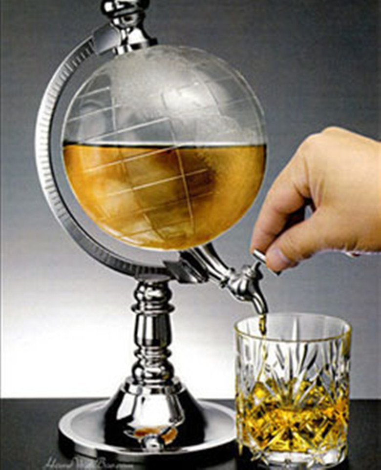 Creative / Globe Dispenser / Beer globe over the new machine / mini-globes beverage Machine / wine(China (Mainland))