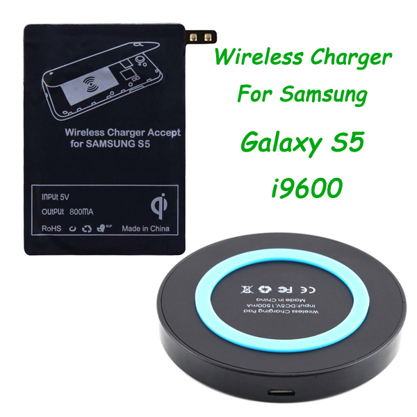 Newest Qi Wireless Charging Kit for Samsung Galaxy S5 SV i9600 Wireless Charger(China (Mainland))