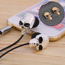New Unique Design 3.5mm In ear earphone High Performance Metal skull earbuds For iphone samsung Xiaomi 100% Retailbox Gifts(China (Mainland))