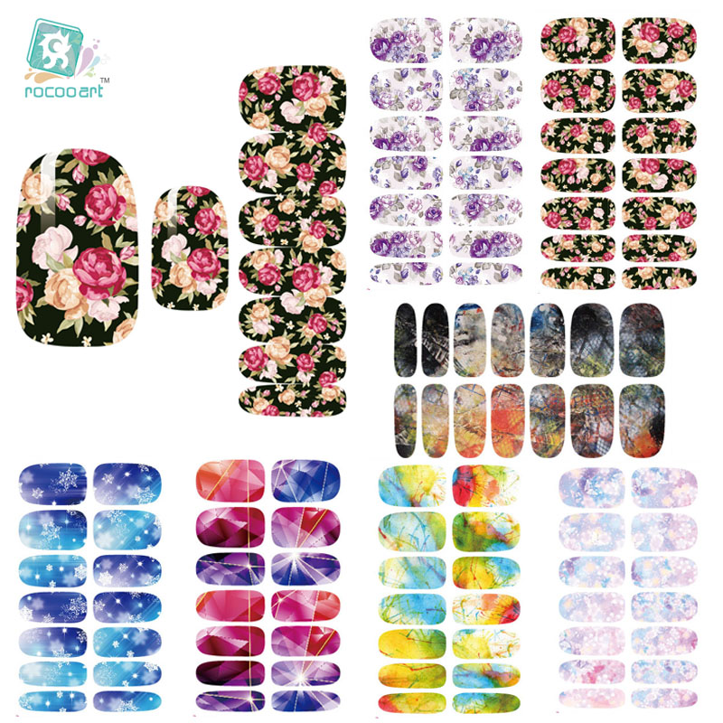 K4 Multi Color Water Transfer Nails Art Sticker Rose Flowers Snowflake Nail Sticker Manicure Decor Tools Cover Nail Wraps Decals(China (Mainland))