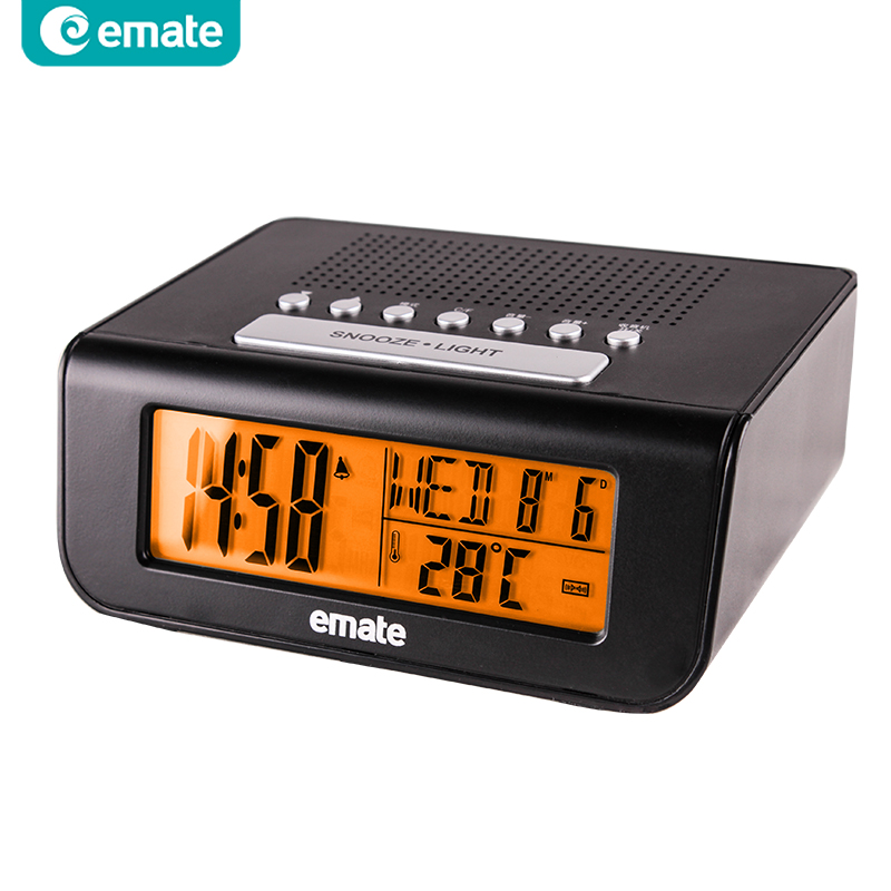 digital fm radio alarm clock with snooze alarm led table clock abs case backlight despertador. Black Bedroom Furniture Sets. Home Design Ideas