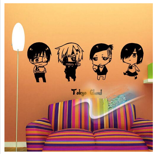 Free shipping Hot 2015 cute cartoon boys pattern 3D Removable Wall sticker fashion style for wall bedroom store cup and table(China (Mainland))