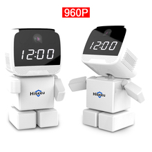 Buy Wireless Robot 960P IP Camera WIFI Clock Network CCTV HD Baby Monitor Remote Control Home Security Night Vision Two Way Audio for $101.01 in AliExpress store