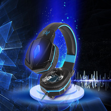 New EACH G4000 Ear Hook Gaming Headphone Headset Gamer Headband Earphone With Mic Stereo LED Light for PC Game Auriculares