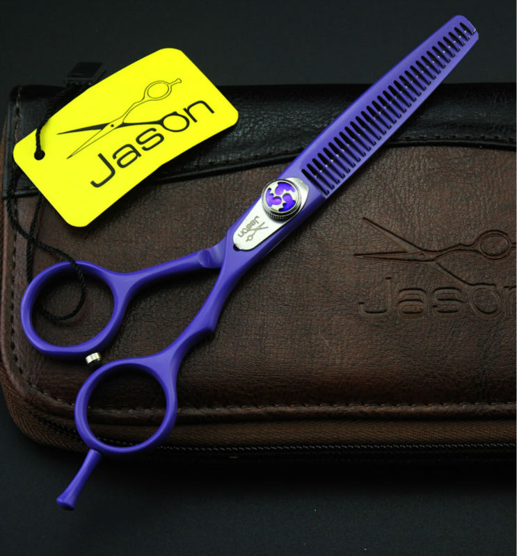 6.0Inch Jason Thinning Scissors,Salon Human Hair Thinning Shears Professional Hair Barbers Tools,1Pcs/lot  3Colors Optional