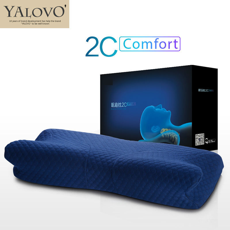 YALOVO Pillow /Neck pillow/Memory foam pillow/Slow Rebound Memory Foam Throw Pillows/Treatment of cervical vertebra/Massage/MQ2C(China (Mainland))