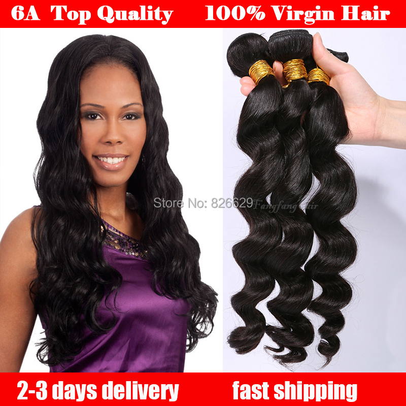 6a Queens Hair Product Indian Virgin Loose Wave lots best Quality 100%Human - Guangzhou fangfang Beauty Store store