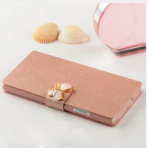 Original Luxury Silk Leather Cover For HTC Desire 300 Phone Case For HTC Desire 300 Protective Cases Shell Rhinestone