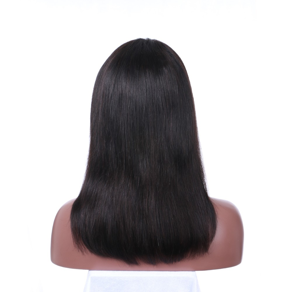 7A Full Lace Human Hair Wigs For Black Women Silky Straight Brazilian Full Lace Wig With Baby Hair Lace Front Wig