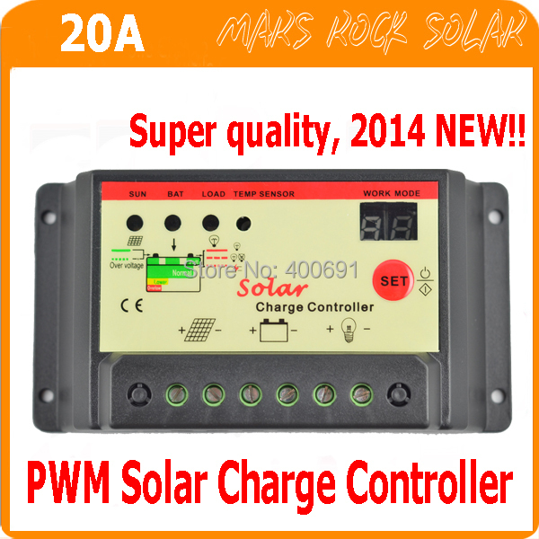 20A 12V/24V Intelligent Identification PWM Solar System Charger and Discharge Controller, Overcharge protection--under promotion<br><br>Aliexpress