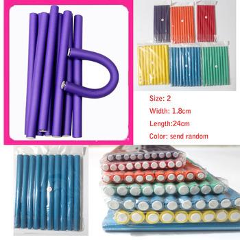 Free Shipping random colors 1.8cm 10pcs/lot Hair Curling Flexi rods Magic Air Hair Roller Curler Bendy Magic Styling Hair Sticks