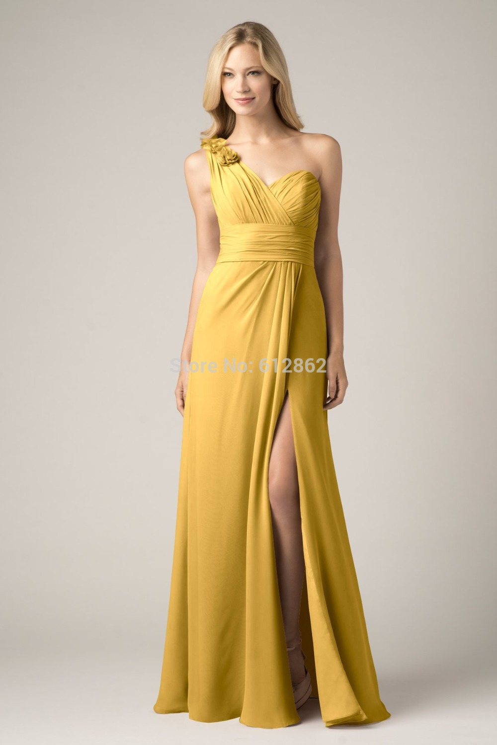 Popular gold colored bridesmaid dresses buy cheap gold for Colored wedding dresses 2017