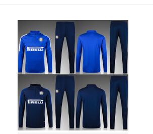15/16 top Embroidery logo Interes Milan soccer jacket training sport pant sets 2016 survetement interes milan football jacketsОдежда и ак�е��уары<br><br><br>Aliexpress