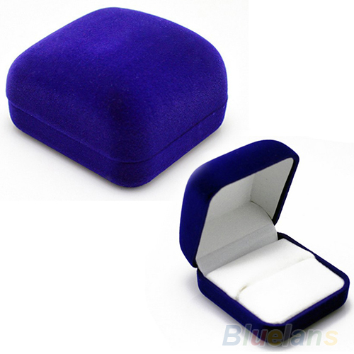Fashion Blue Gift Box for Jewelry Watch Watch ring necklace earrings Jewelry Box 0AAA(China (Mainland))