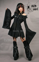 Punk Rave Mad Gothic Kera Womens Jakcet Coat Japan fashion Kimono sleeve Dress Y326