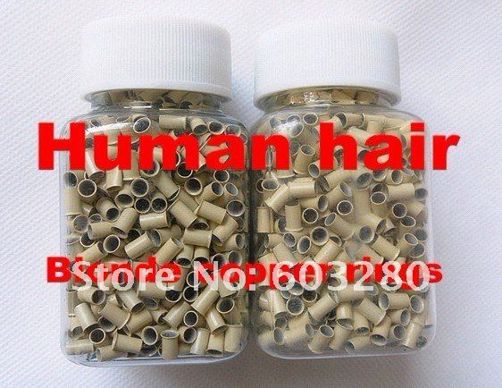 3 jars-3000pieces/LOT in 3 colors Micro copper Rings/links/beads for Human Hair Extensions/Beauty salon use