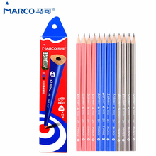 Buy Marco Pencil 9002 2H/HB/2B Three Color 12pcs Penholder Black Special Writing Pen School Office Supply pencilcase Stationery for $7.65 in AliExpress store