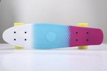 22 Inch 3-colors Penny Board Skateboard Kids or adult single rocker skateboard Customized long board free shipping(China (Mainland))